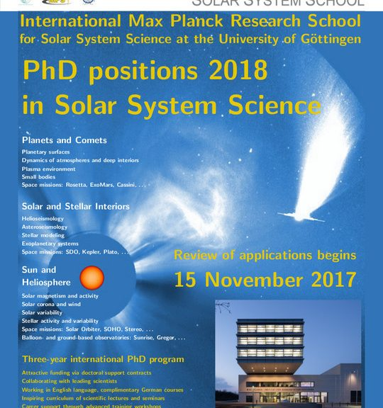 Poster PhD positions in helioseismology